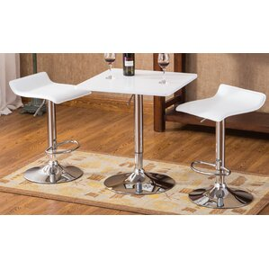 Baxton 3 Piece Pub Table Set by Roundhill Furniture