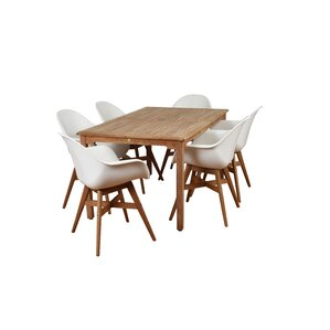 Alshain Teak 7 Piece Dining Set