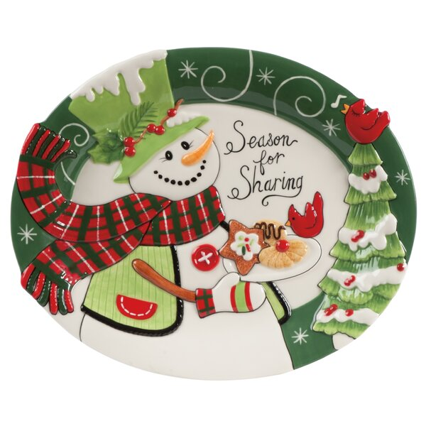 christmas dishes and platters youll love wayfair - Decorative Christmas Display Plates