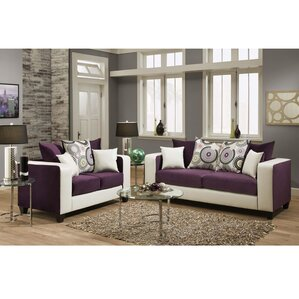Living Room Furniture Purple grey living room sets you'll love | wayfair