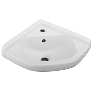 Vitreous China Specialty Wall-Mount Bathroom Sink with Overflow