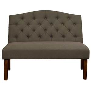 Thornville Camel Back Upholstered Settee by Charlton Home