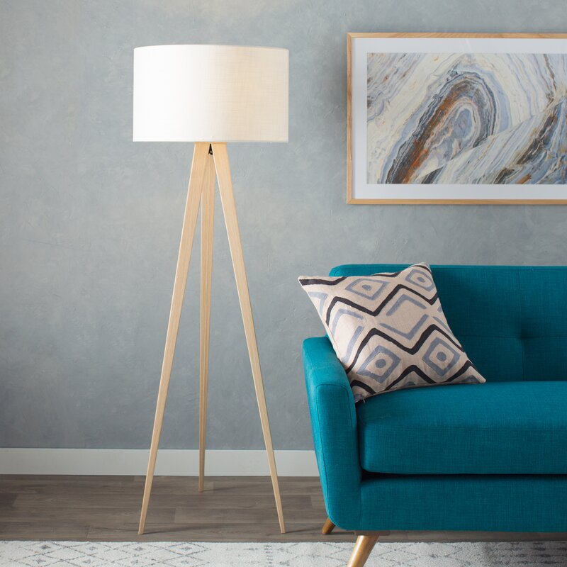 Teterboro Modern 60 25 Quot Tripod Floor Lamp Amp Reviews