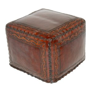 Classic Stitch Leather Ottoman by New ..