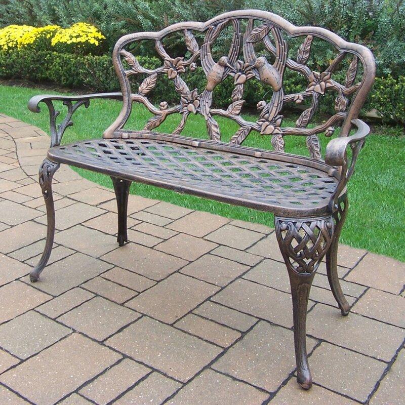 Delicieux Hummingbird Aluminum Garden Bench