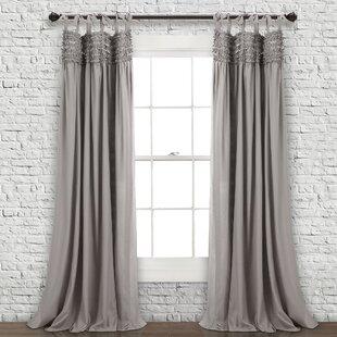 Aloysia Ruffle Pair Solid Tab Top Curtain Panels Set Of 2