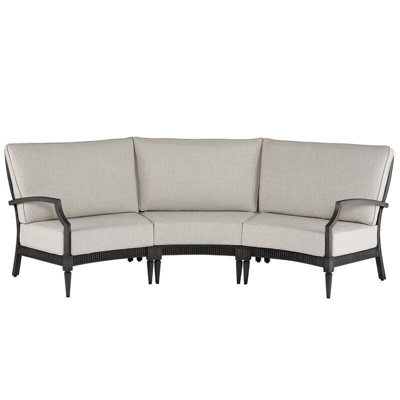 Canora Grey Euston 3 Piece Sunbrella Sectional Set with Cushions