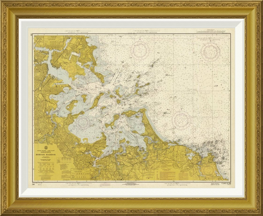 Global Gallery \'Nautical Chart, Sepia Tinted\' by NOAA Historical Map ...