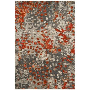 Mila Gray/Orange Area Rug