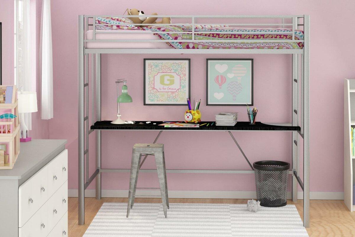 Viv Rae Myrtle Twin Loft Bed With Desk Amp Reviews