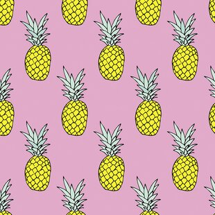 Pineapple Party Removable 5 X 20 Wallpaper