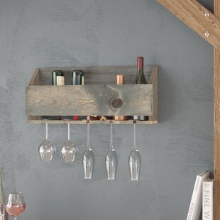 Joetta 6 Bottle Wall Mounted Wine Rack