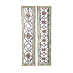 2 Piece Wood Wall Decor Set (Set of 2)