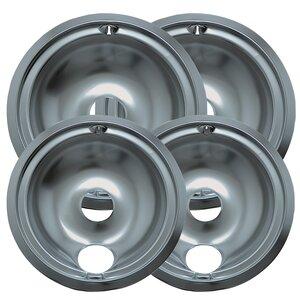 4 Piece Cooktop Style B Plug-in Electric Range Drip Pan Set