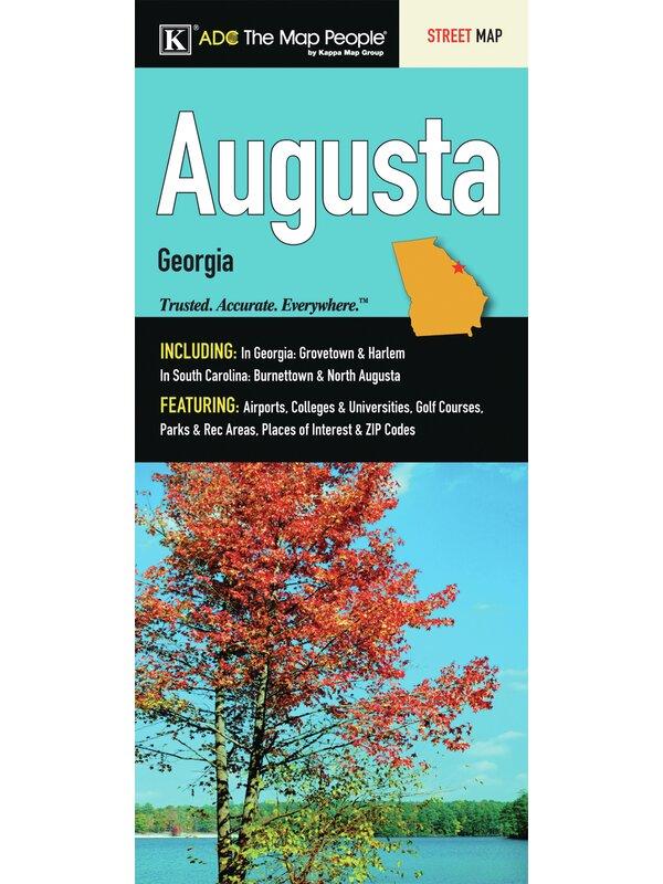Map Of Georgia Universities.Augusta Georgia Fold Map