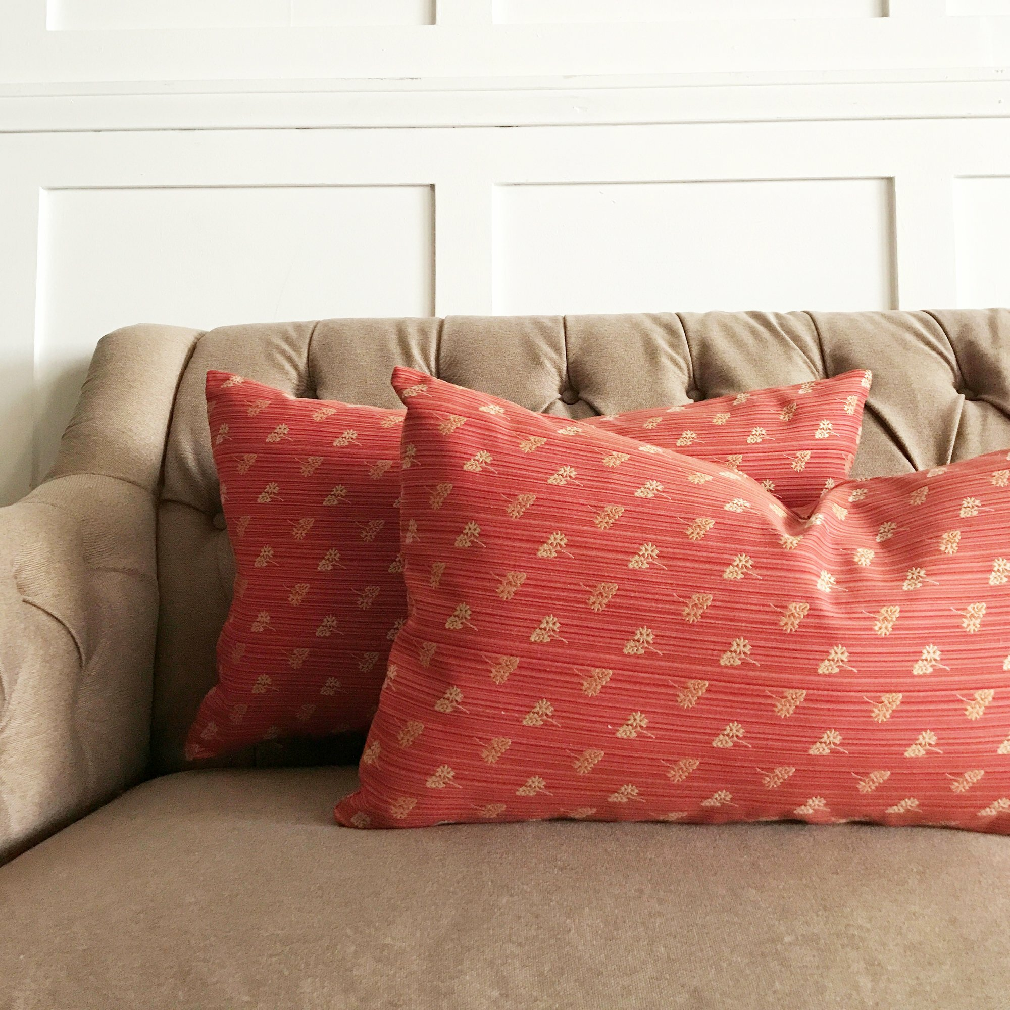 august grove heineman berry striped leaf embroidered luxury Upscale Decorative Pillows