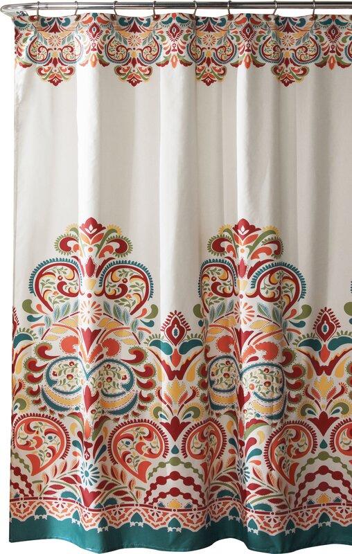 orange and navy shower curtain.  Shower Curtains Joss Main