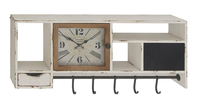 one allium way giustino rustic wall clock with multi-purpose