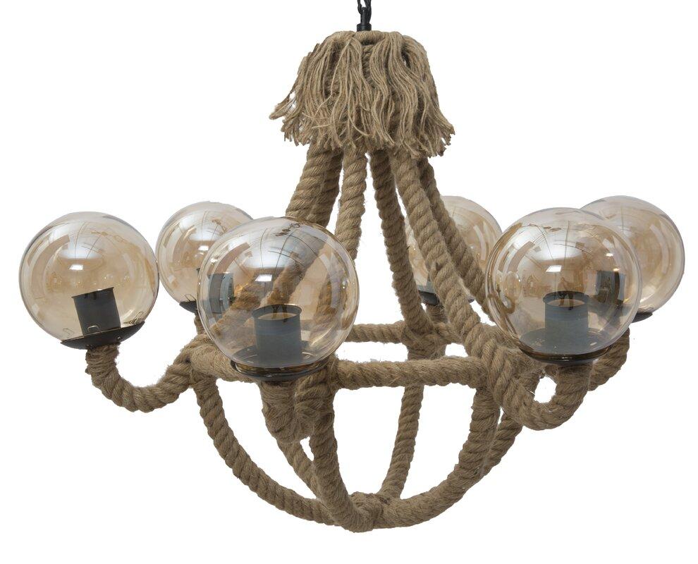 alexandrahouse flur pendelleuchte 6 flammig rope bewertungen. Black Bedroom Furniture Sets. Home Design Ideas