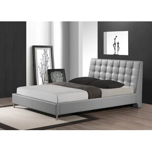 Gabrielle Queen Upholstered Platform Bed by Wade Logan