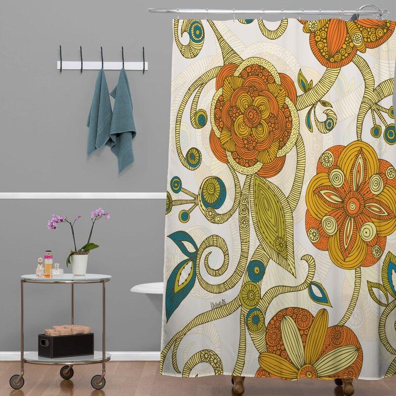Deepak Flowers Shower Curtain