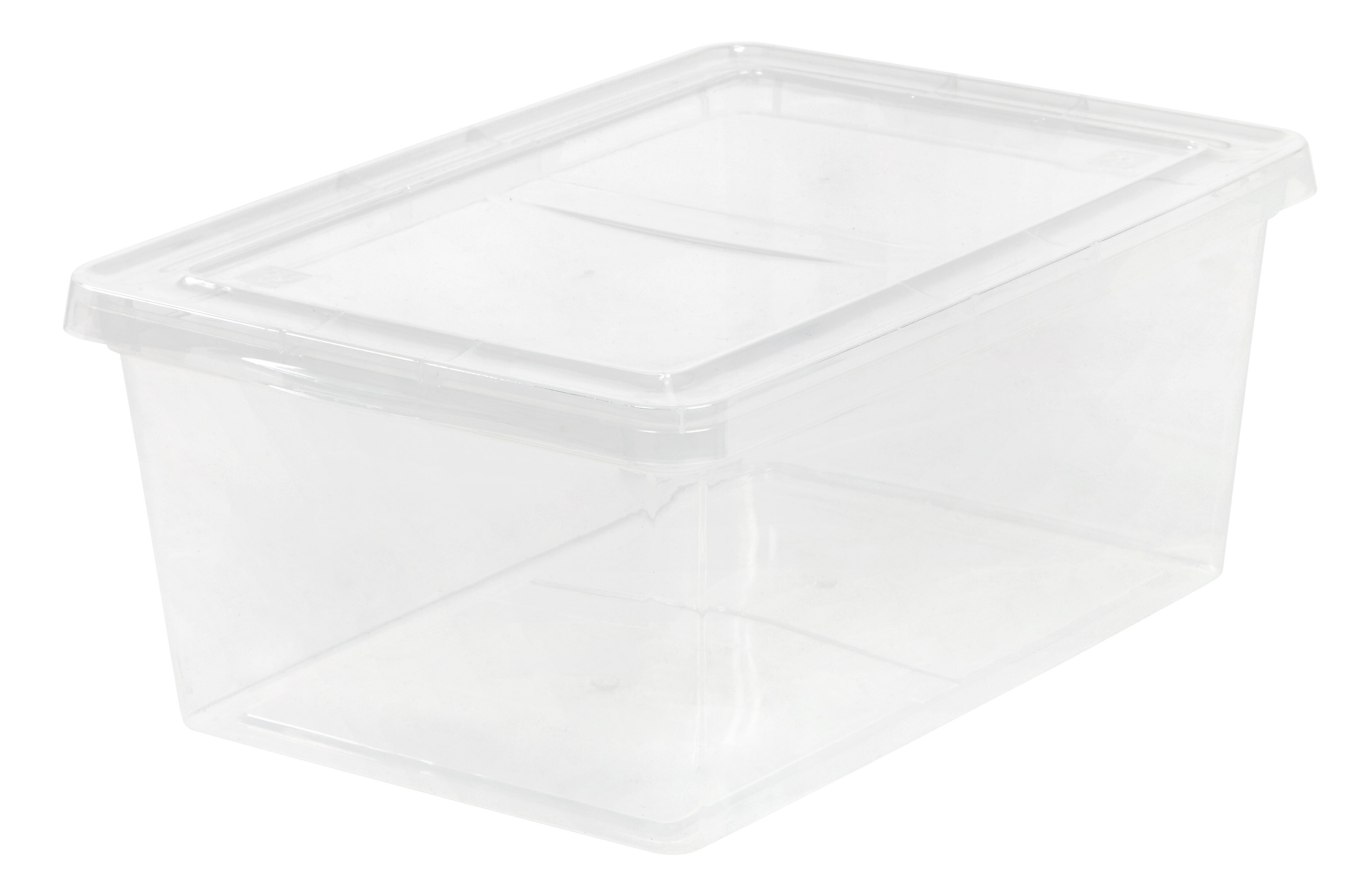 IRIS 17 Qt. Clear Storage Box U0026 Reviews | Wayfair
