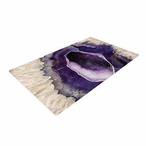 Sylvia Cook Quartz Lavender/White/Purple Area Rug