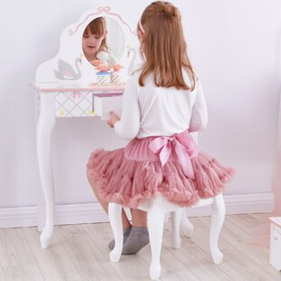 Cheung Dressing Table Set with Mirror by Zoomie Kids