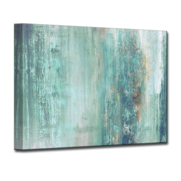 Beachcrest Home Abstract Spa Framed Graphic Art Print On