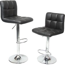 warsage adjustable height swivel bar stool set of 2
