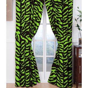 Zebra Curtain Panels (Set Of 2)