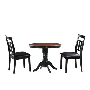 Dahle 3 Piece Solid Wood Dining Set