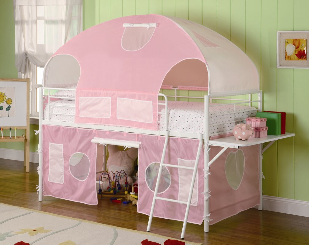 zoomie kids victoria twin low loft bed reviews wayfair. Black Bedroom Furniture Sets. Home Design Ideas