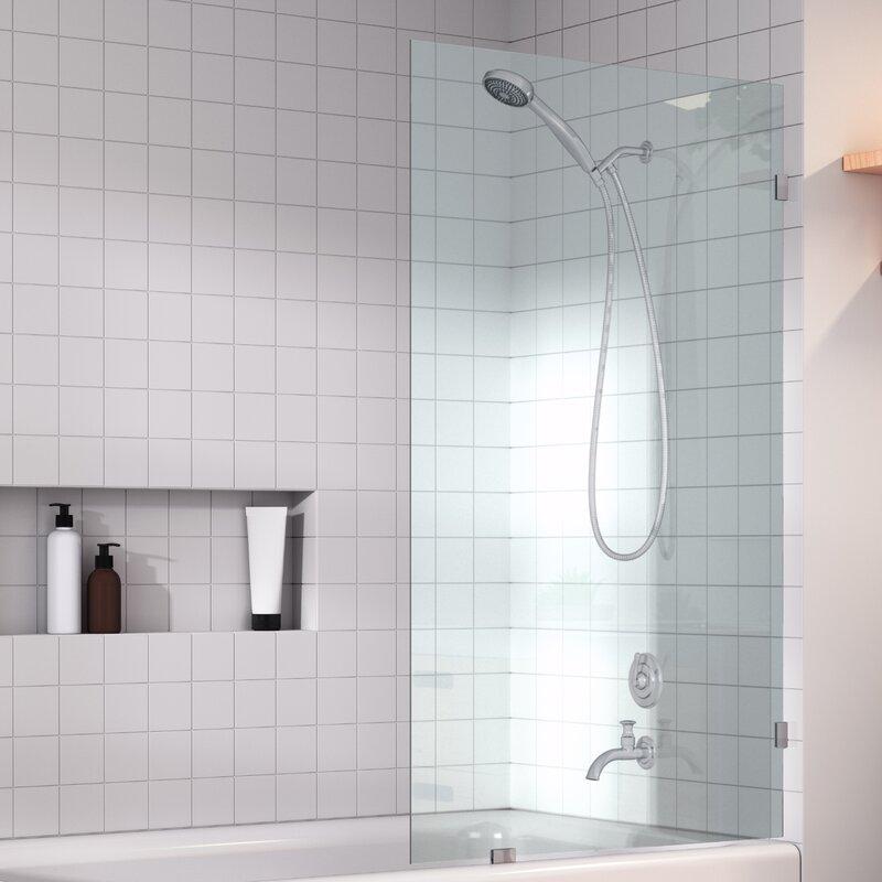 Glass Warehouse 34 X 58 Frameless Tub Door Wayfair