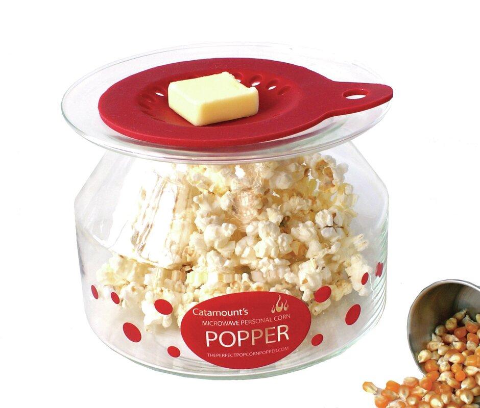 Catamount Glass 2 Oz. Personal Microwave Popcorn Popper ...