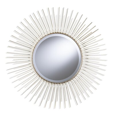 Brayden Studio Oversized Sunburst Wood Frame Accent Mirror