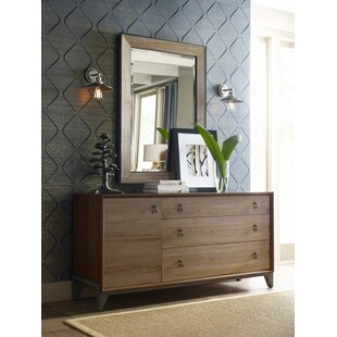 Nouveau Maple 3 Drawer Combo Dresser With Mirror