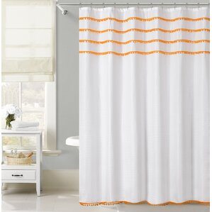 gray and orange shower curtain. Freya Lace Border Shower Curtain Orange Curtains You ll Love  Wayfair