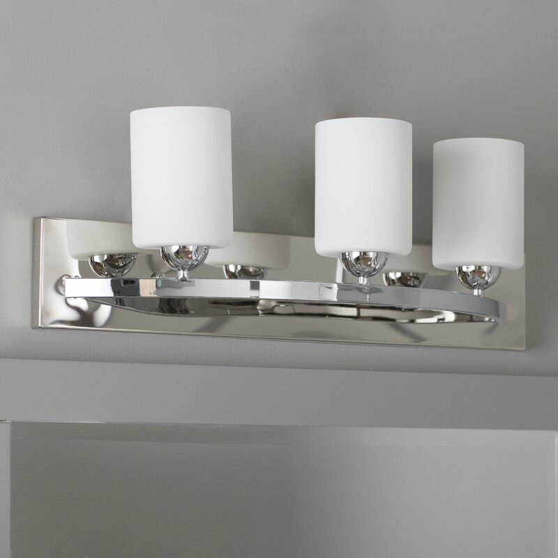 Bathroom Vanity Light Off Center varick gallery oaklawn 3-light vanity light & reviews | wayfair