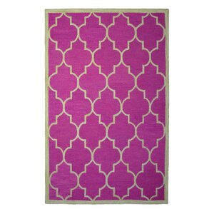 Wool Hand-Tufted Pink/Ivory Area Rug