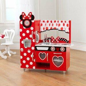 Red Play Kitchen Set kitchen sets play kitchen sets & accessories you'll love | wayfair