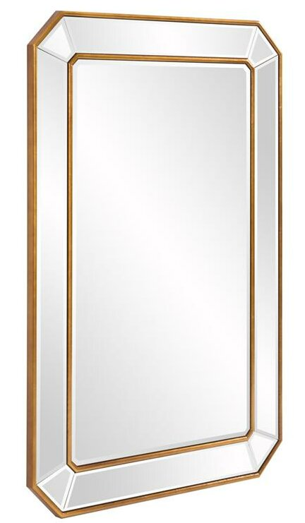 Willa Arlo Interiors Briley Rectangle Gold Angled Accent Wall Mirror Reviews
