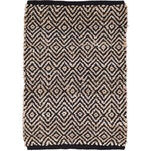 Conner Hand-Woven Black/Beige Area Rug