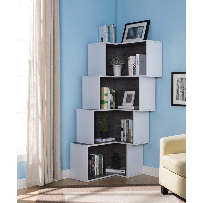Astonishing Farragutt Modern Corner Bookcase Interior Design Ideas Gentotryabchikinfo