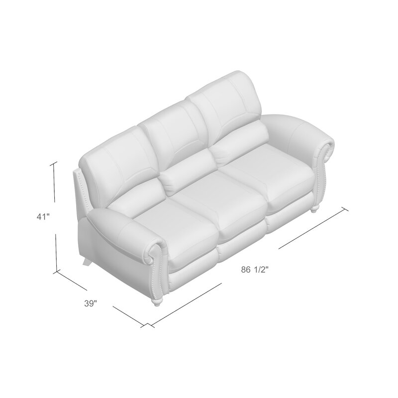 Williston Forge Tanguay Leather Reclining Sofa Reviews Wayfair