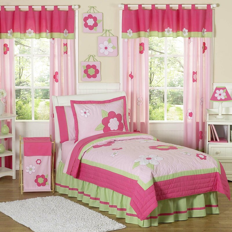 flower 4 piece twin comforter set