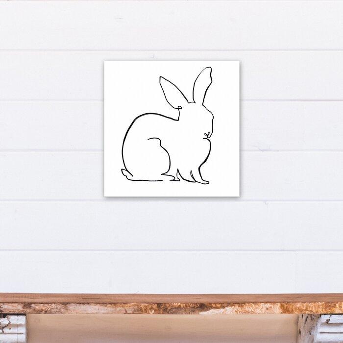 'Simple Rabbit Sketch' Canvas Art