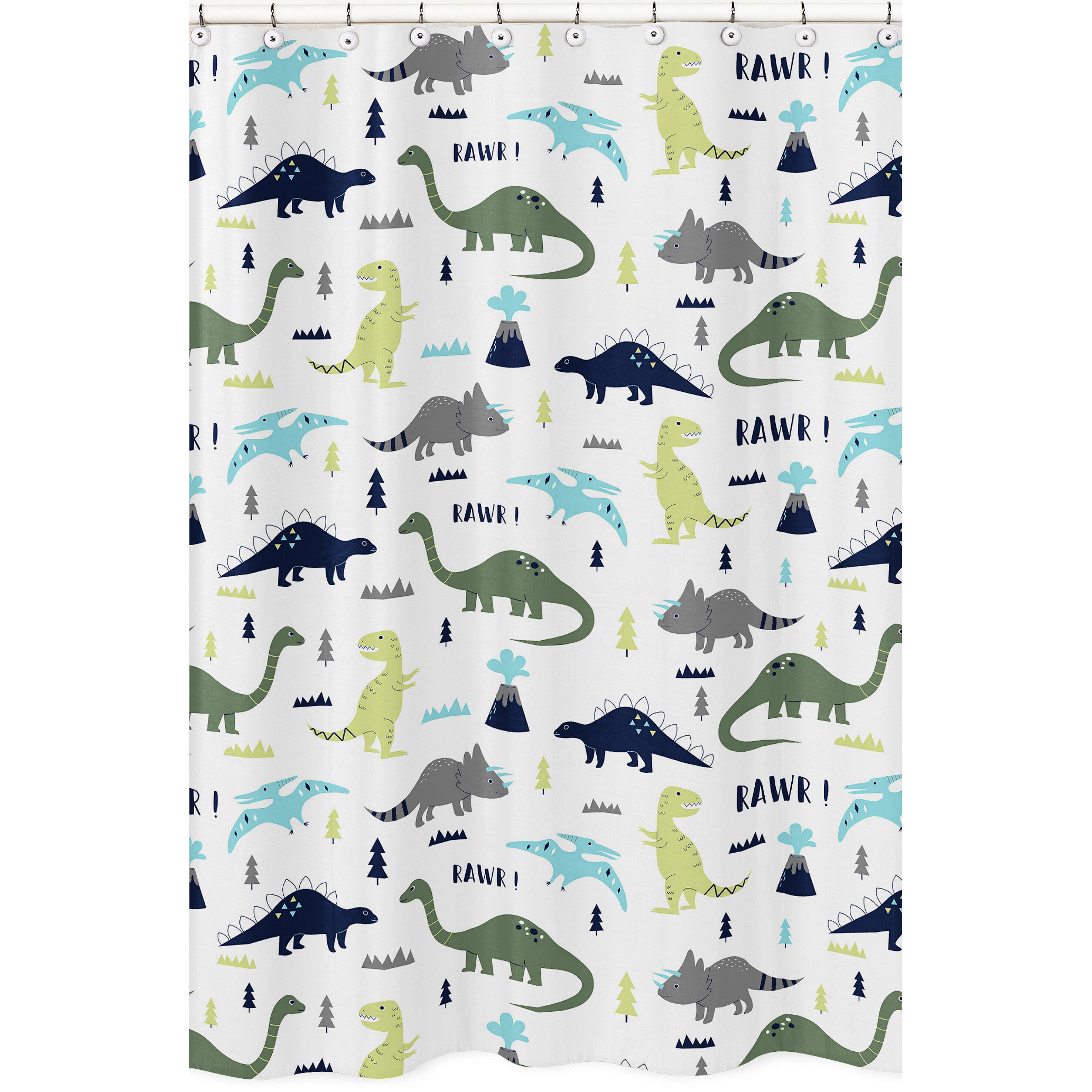 Sweet Jojo Designs Mod Dinosaur Shower Curtain Reviews