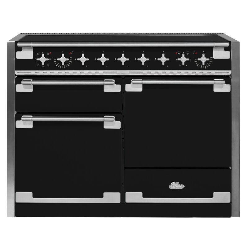 "AGA 48"" Elise Free-Standing Electric Range  Finish: Matte Black"
