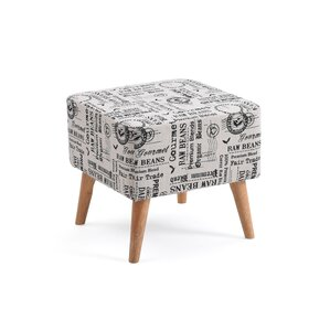 Himrod Newspaper Print Ottoman by Varick Gallery